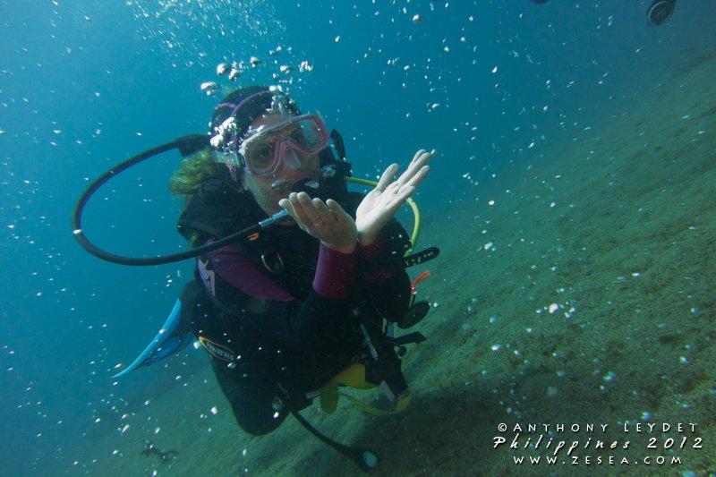 Bubble diving