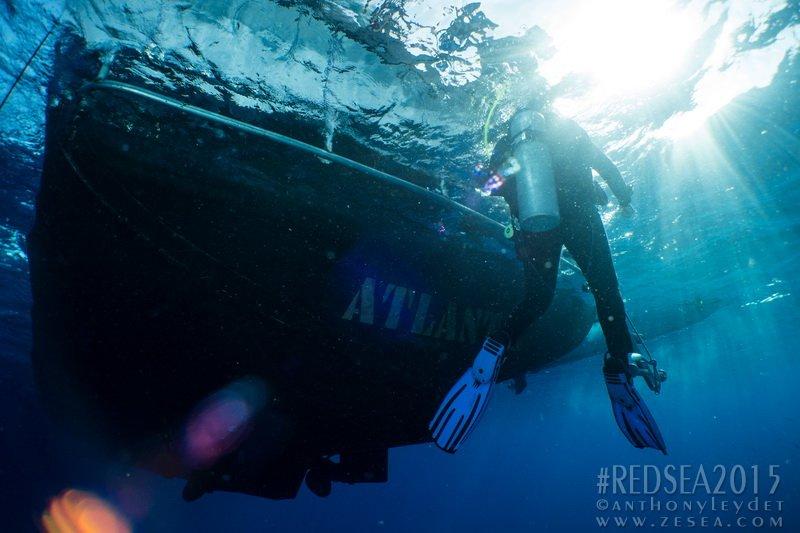 L'Atlantis sur les récifs de St-John