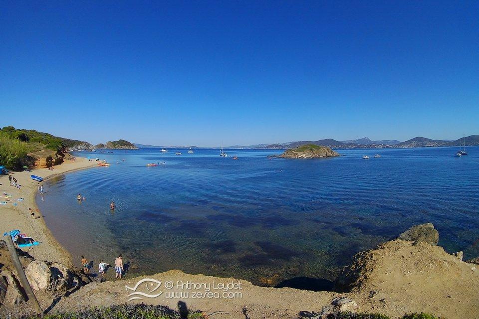 La plage de la Madraque sur la Presqu'île de Giens