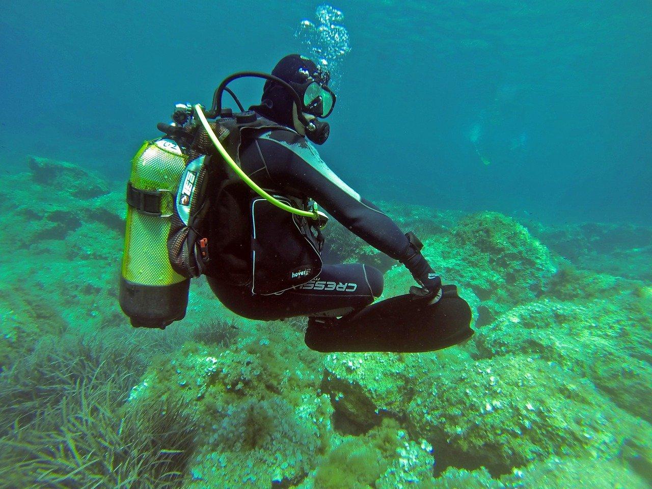 La flottabilité du plongeur